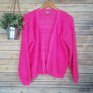 Asos Bright Pink Fuzzy Open Sweater/Cardigan